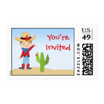 Cowboy Birthday Postage Stamp