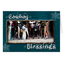 Cowboy Blessing Christmas Greeting Card