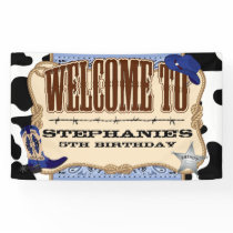 Cowboy, Blue Birthday, Welcome Banner