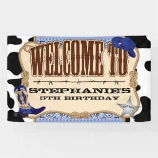 Cowboy, Blue Birthday, Welcome Banner