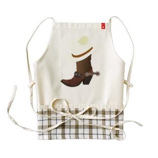 Cowboy boot and hat illustration zazzle HEART apron