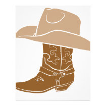 Cowboy Boot And Hat Letterhead