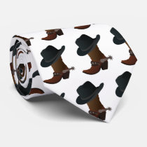 Cowboy Boot and Hat Tie