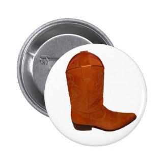 Cowboy Boot Pinback Button