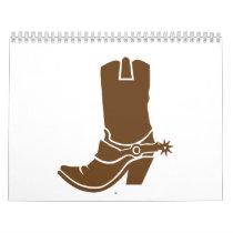 Cowboy boot calendar