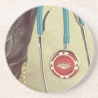 Cowboy Boot Doctor Stethoscope Casino Chip Nurse Drink Coaster