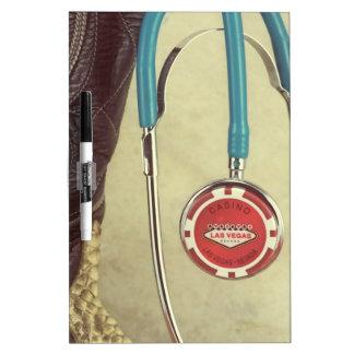 Cowboy Boot Doctor Stethoscope Casino Chip Nurse Dry-Erase Board