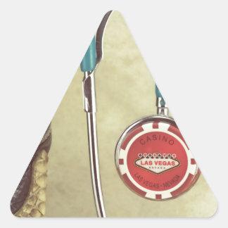 Cowboy Boot Doctor Stethoscope Casino Chip Nurse Triangle Sticker