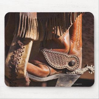 Cowboy boot mouse pad