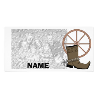 Cowboy Boot Photocard Personalized Photo Card