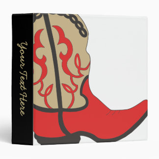 Cowboy Boot Red Binder