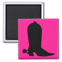 Cowboy Boot Silhouette Magnet