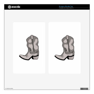 COWBOY BOOT KINDLE FIRE DECALS