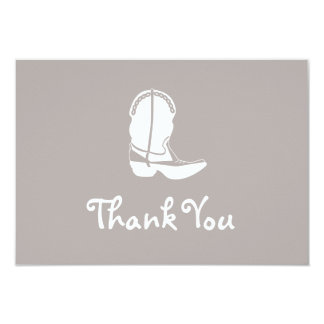 Cowboy Boot Thank You Note Cards (Sand)