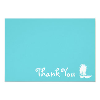Cowboy Boot Thank You Note Cards (Teal) Custom Invites