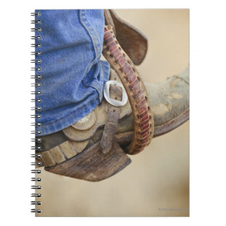 Cowboy boot with spur 2 spiral notebook