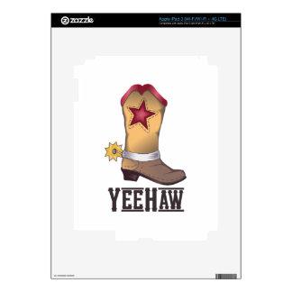 COWBOY BOOT YEEHAW DECALS FOR iPad 3
