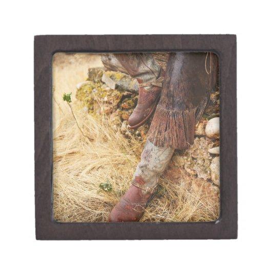 Cowboy boots 2 keepsake box