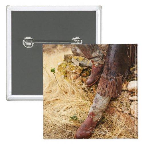 Cowboy boots 2 pinback button