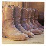 Cowboy boots 3 large square tile