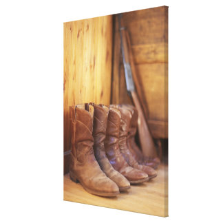 Cowboy boots 4 stretched canvas print