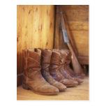 Cowboy boots 4 post card