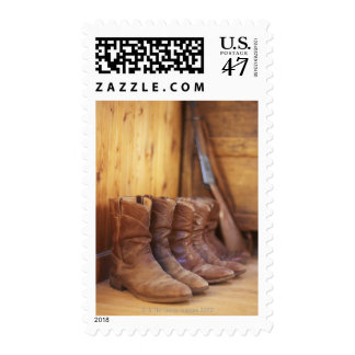 Cowboy boots 4 postage stamp