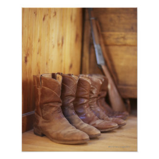 Cowboy boots 4 poster