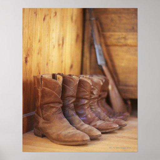 Cowboy boots 4 poster