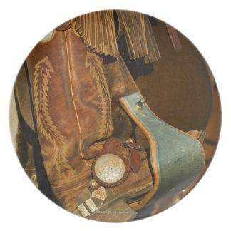 Cowboy boots 5 melamine plate