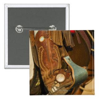 Cowboy boots 5 pinback button