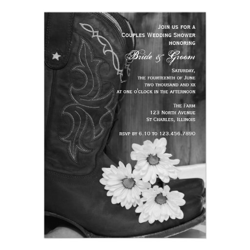 Cowboy Boots And Daisies Couples Wedding Shower