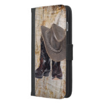 Cowboy Boots and Hat iPhone 6/6s Plus Wallet Case