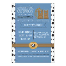 Cowboy Boots Baby Shower Invitation