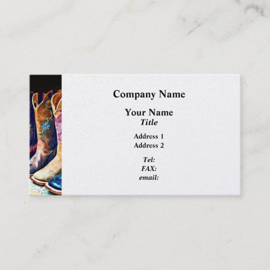004cb1b5139 Cowboy Boots Business Card