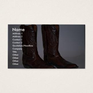 Cowboy boots business card