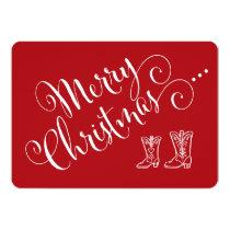 Cowboy Boots Christmas Card