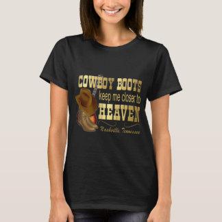 Cowboy Boots Closer to Heaven Women's Dark T-Shirt