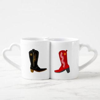 Cowboy Boots Coffee Mug Set