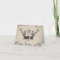 Cowboy Boots Country Rustic Wedding Thank You