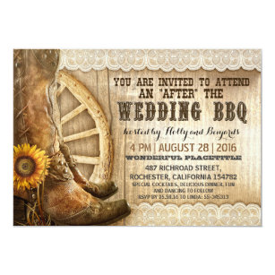 Western Wedding Invitations & Announcements   Zazzle