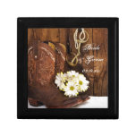 Cowboy Boots, Daisies Horse Bit Country Wedding Jewelry Box