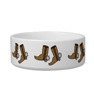 Cowboy Boots Dancing Dog Bowl Country Line Dancers