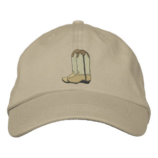 Cowboy Boots Embroidered Baseball Cap