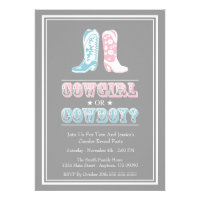 Cowboy Boots Gender Reveal Party Invitations