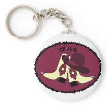 COWBOY BOOTS - GIRL - LOVE TO BE ME.png Keychain
