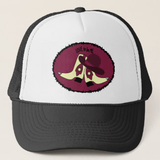 COWBOY BOOTS - GIRL - LOVE TO BE ME.png Trucker Hat
