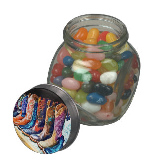 Cowboy Boots Glass Candy Jars