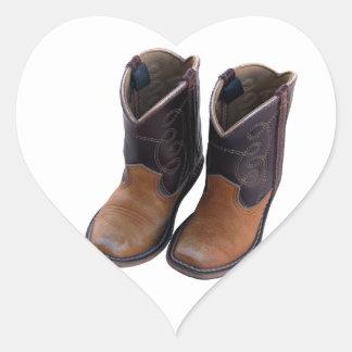 Cowboy Boots Heart Sticker