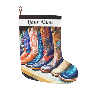 Cowboy Boots Large Christmas Stocking